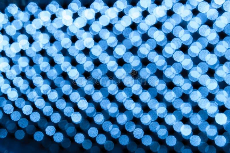 Bluebackground circular abstrato do bokeh fotografia de stock royalty free