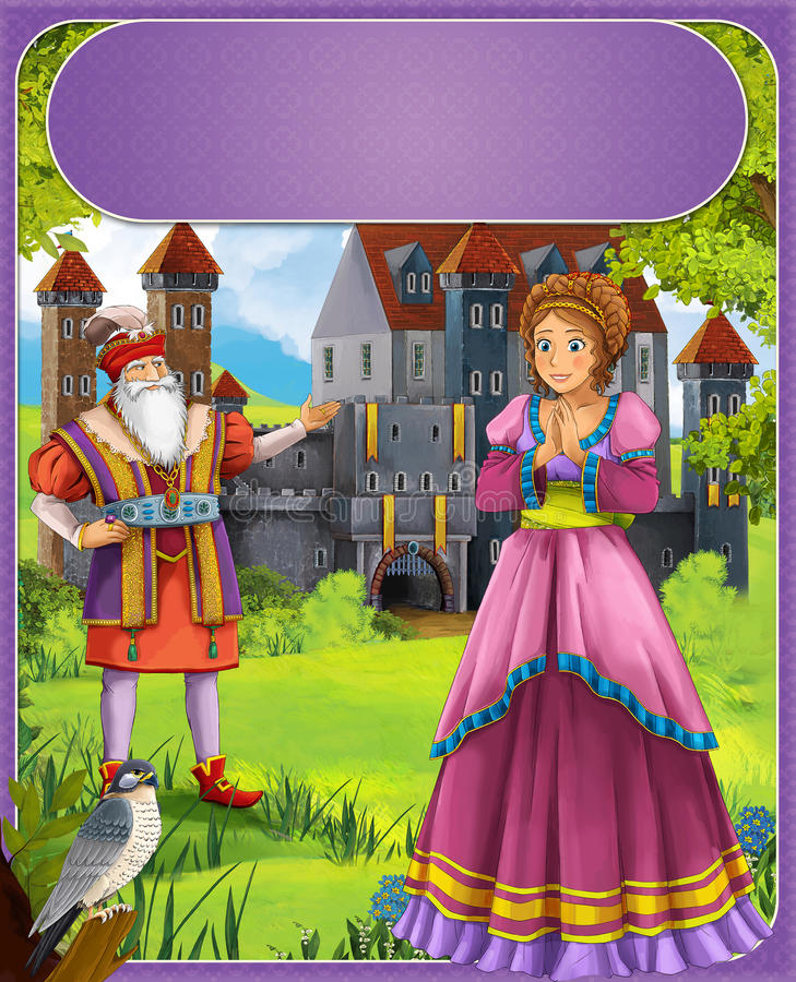 Bluebeard - Greybeard - Prince Or Princess - Castles - Knights And Fairies - Illustration For The Children Royalty Free Stock Photo