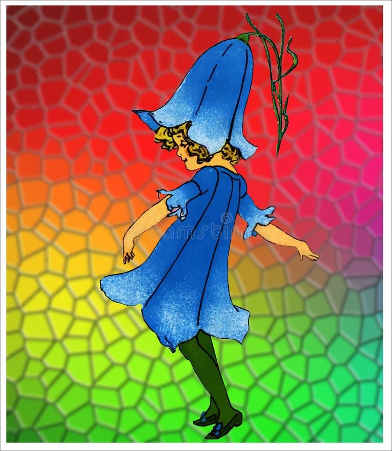 Bluebell kwiatu dzieci ilustracji