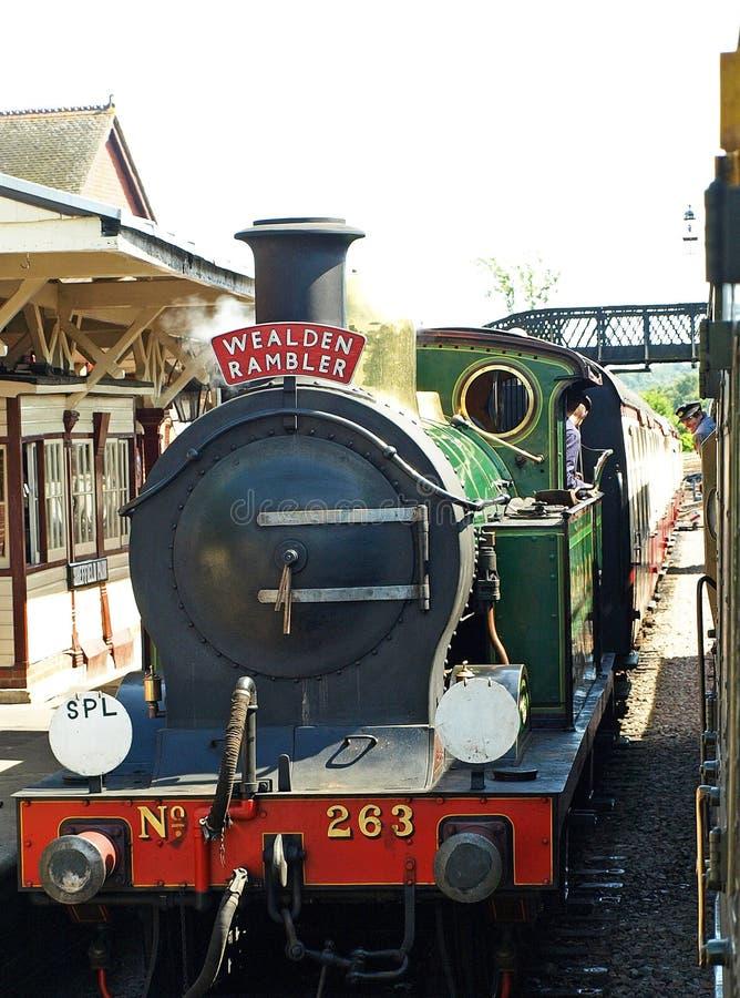 Bluebell railway. Wealden Rambler locomotive at Bluebell railway royalty free stock photography