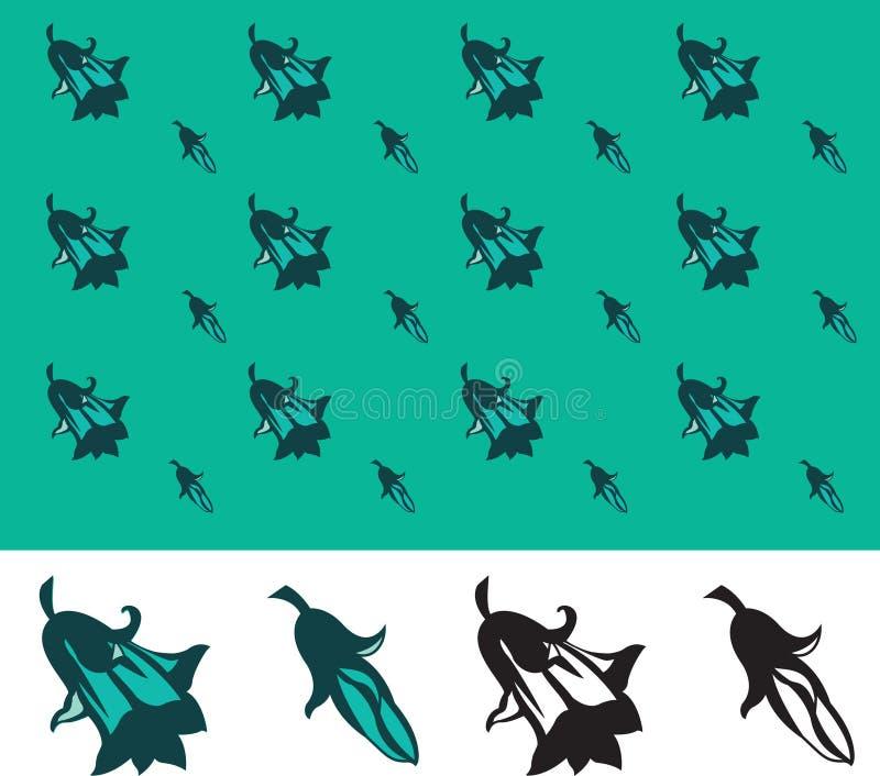 bluebell wzór ilustracja wektor