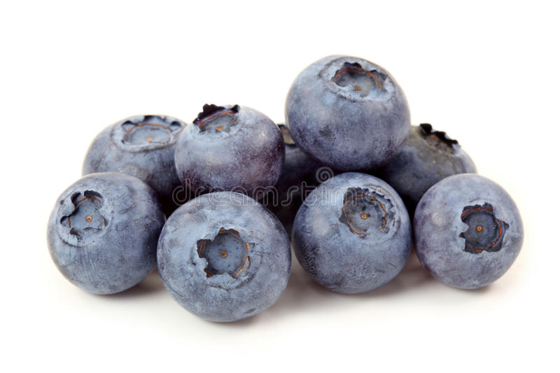 Blueberries. Isolated on white background stock image