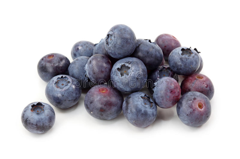 Blueberries. Isolated on white background stock photos