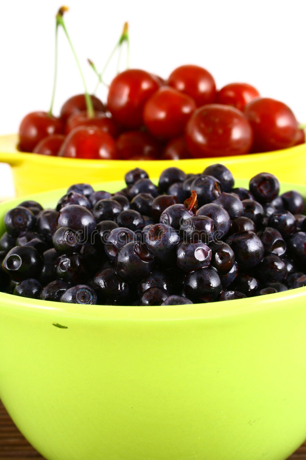 Free Blueberries And Cherry Stock Image - 3211831