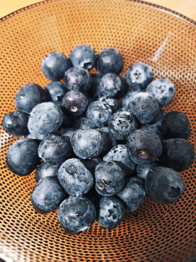 Blueberries healthy diet stock photo