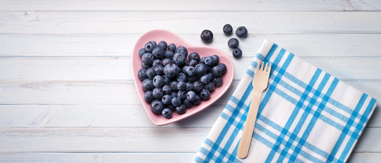 Blueberries Heart Background stock photos