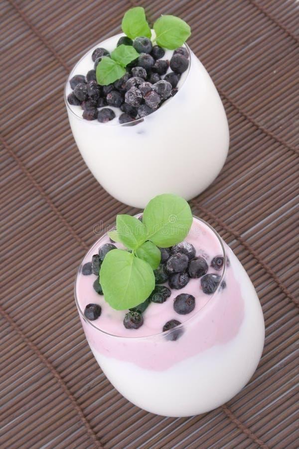 Free Blueberries In Yogurt Stock Photography - 6235462