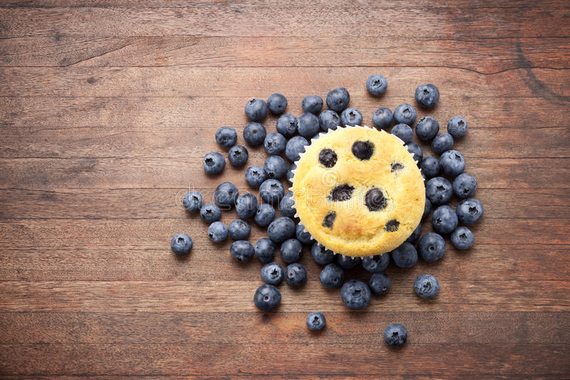Blueberries Muffin Food Background stock image