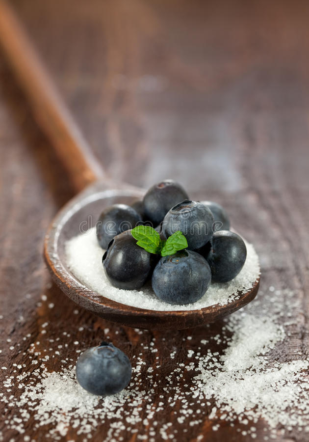 Free Blueberries On Sugar Stock Images - 17890534