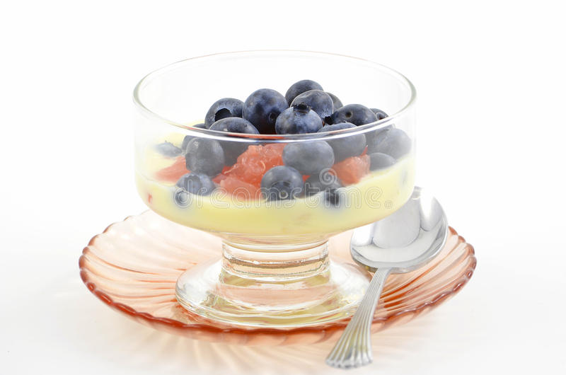 Download Blueberries, Red Grapefruit And Yogurt Royalty Free Stock Photography - Image: 23095667