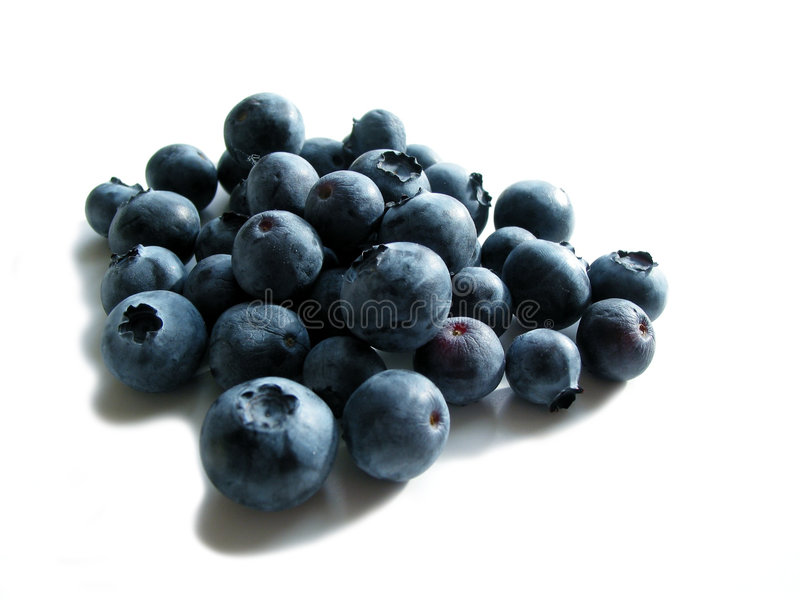 Download Blueberries on white stock image. Image of detail, fruits - 470229