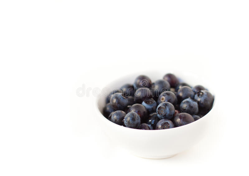 Download Blueberries in white bowl stock image. Image of sweet - 23844483