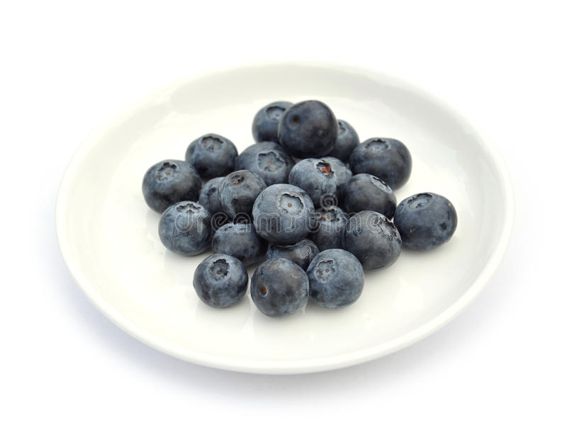 Download Blueberries on white dish stock image. Image of health - 24125581