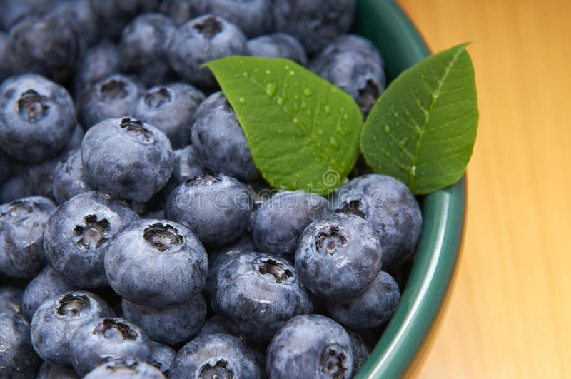 Download Blueberries From The Wood In A Bowl Stock Image - Image of berry, blueberry: 26417909