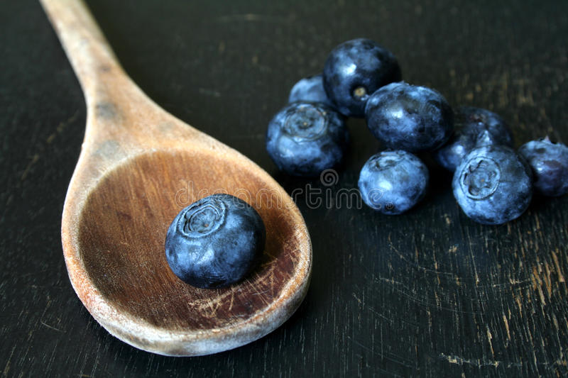 Download Blueberries And Wooden Spoon Stock Image - Image: 15164147