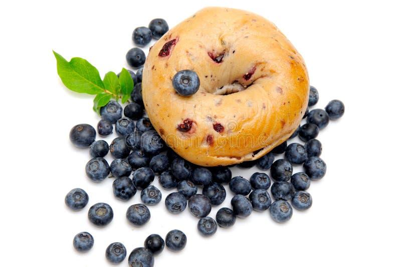 Blueberry bagel royalty free stock image