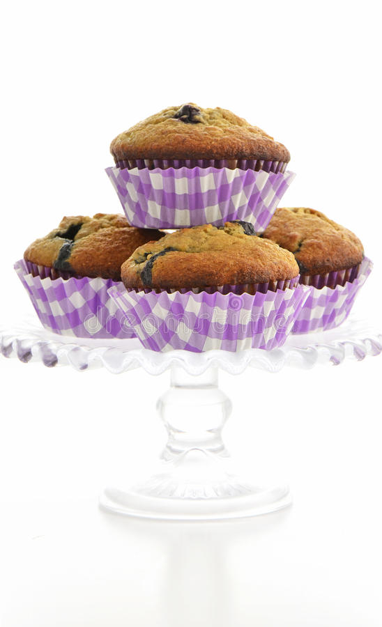 Download Blueberry banana muffins stock image. Image of warm, blueberry - 38411113