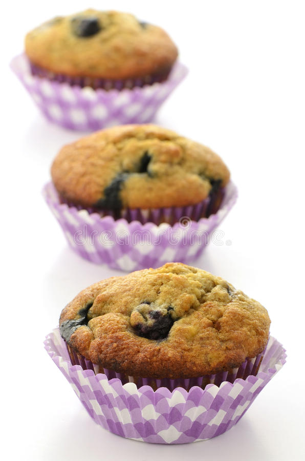 Download Blueberry banana muffins stock photo. Image of blueberry - 38416576