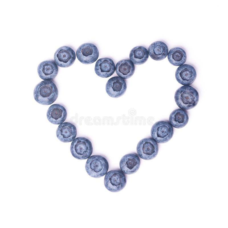 Blueberry heart royalty free stock photography