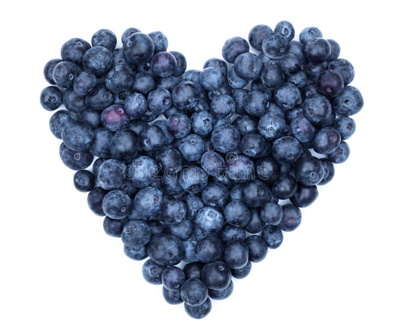 Blueberry Heart Stock Photo Image Of Above Isolated 31384624