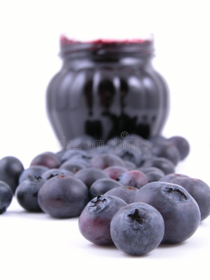 Blueberry jam stock image