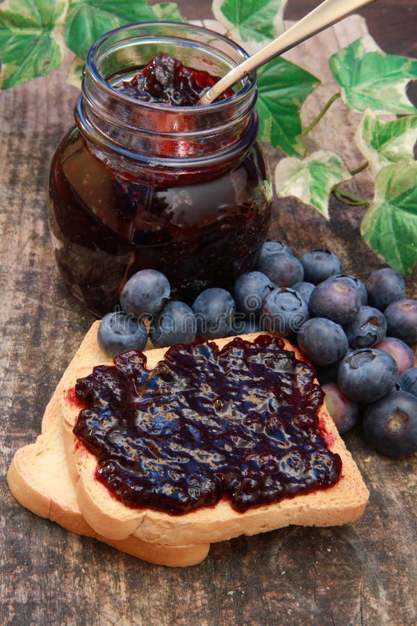 Download Blueberry jam stock image. Image of fruit, berry, bread - 14858765