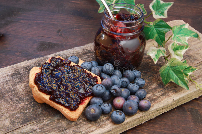 Download Blueberry jam stock image. Image of toast, jelly, bread - 14858787