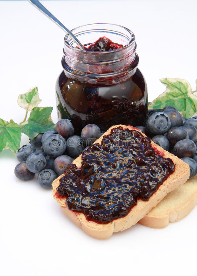 Download Blueberry jam stock photo. Image of white, close, growing - 14858836