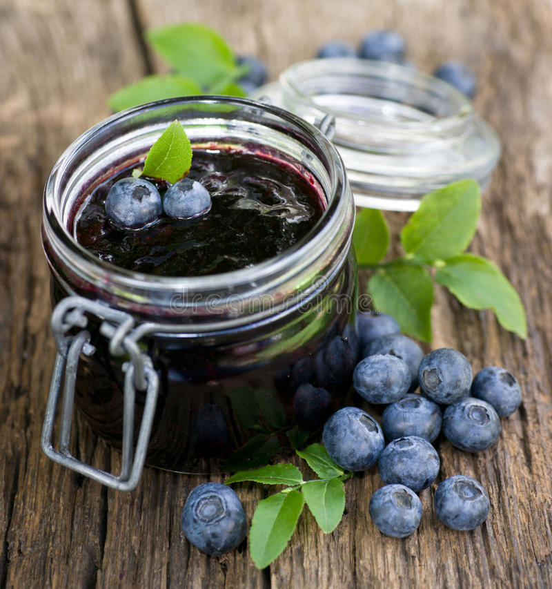Blueberry jam royalty free stock images