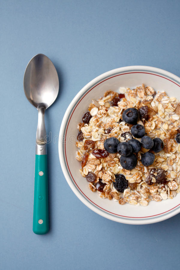 Blueberry muesli royalty free stock photos