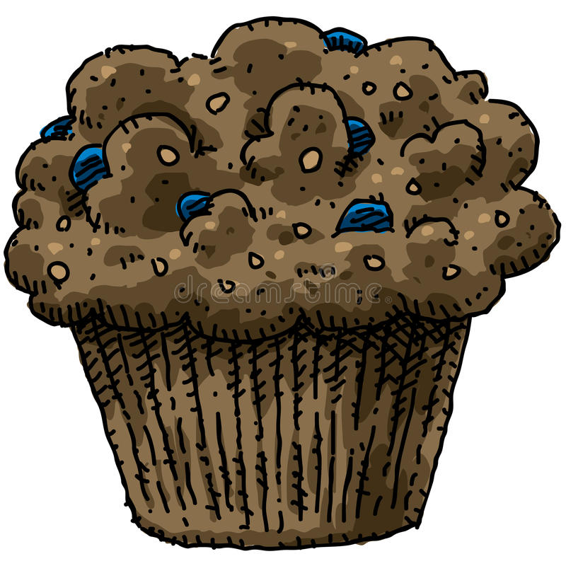Blueberry Muffin Stock Images