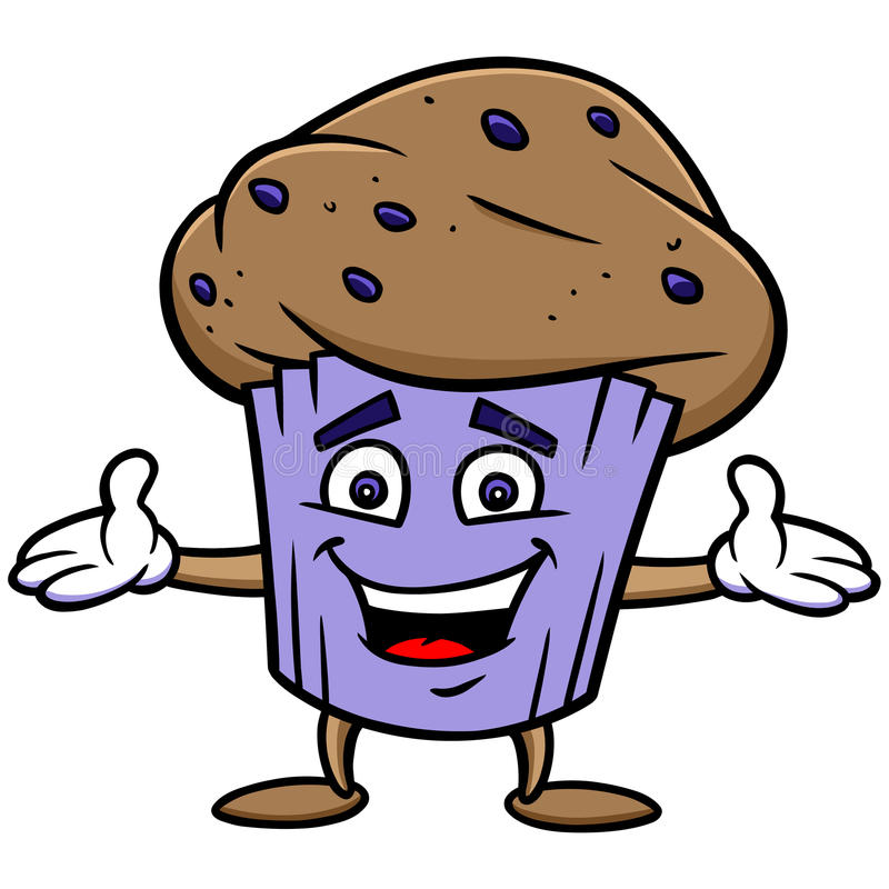Blueberry Muffin. Cartoon illustration of a Blueberry Muffin royalty free illustration