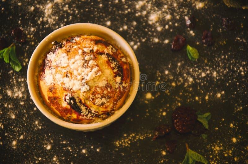 Blueberry muffin in ramekin royalty free stock photos