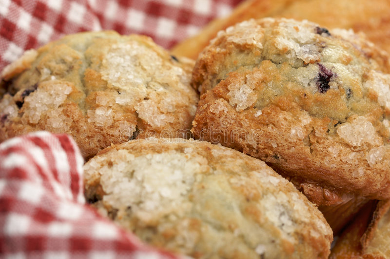 Download Blueberry Muffins In Basket Stock Image - Image: 4002059