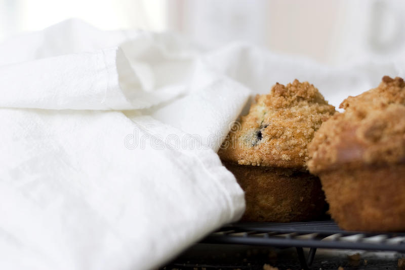 Blueberry Muffins with Crumbly Tops royalty free stock images