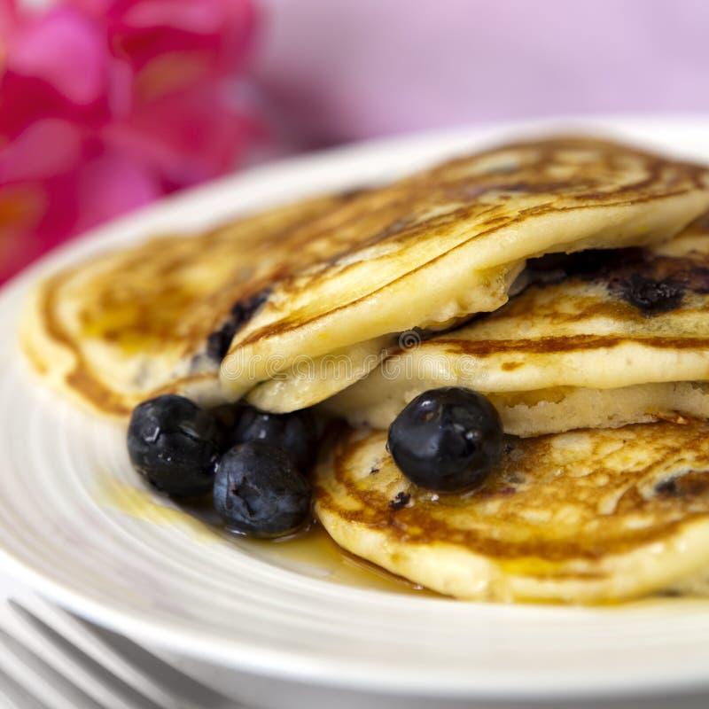 Blueberry Pancakes Stock Photo