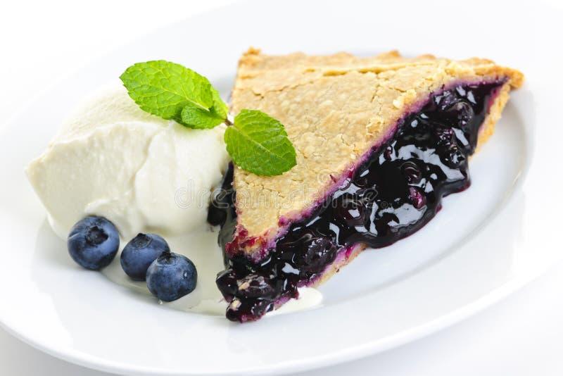 Blueberry pie slice royalty free stock photos