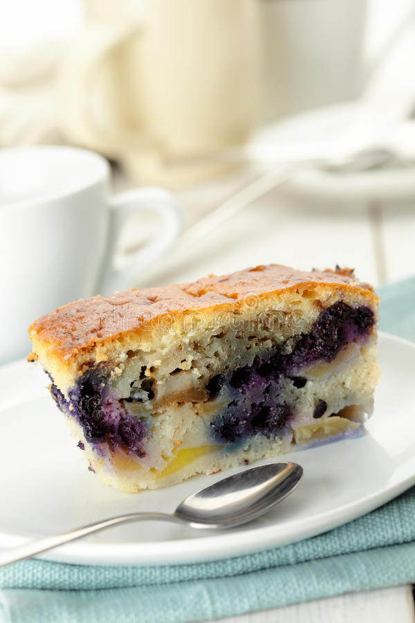 Download Blueberry pie slice stock photo. Image of serving, indulgence - 27527000