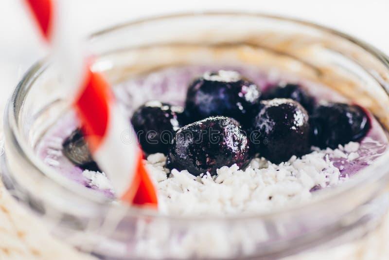 Blueberry smoothie royalty free stock photos