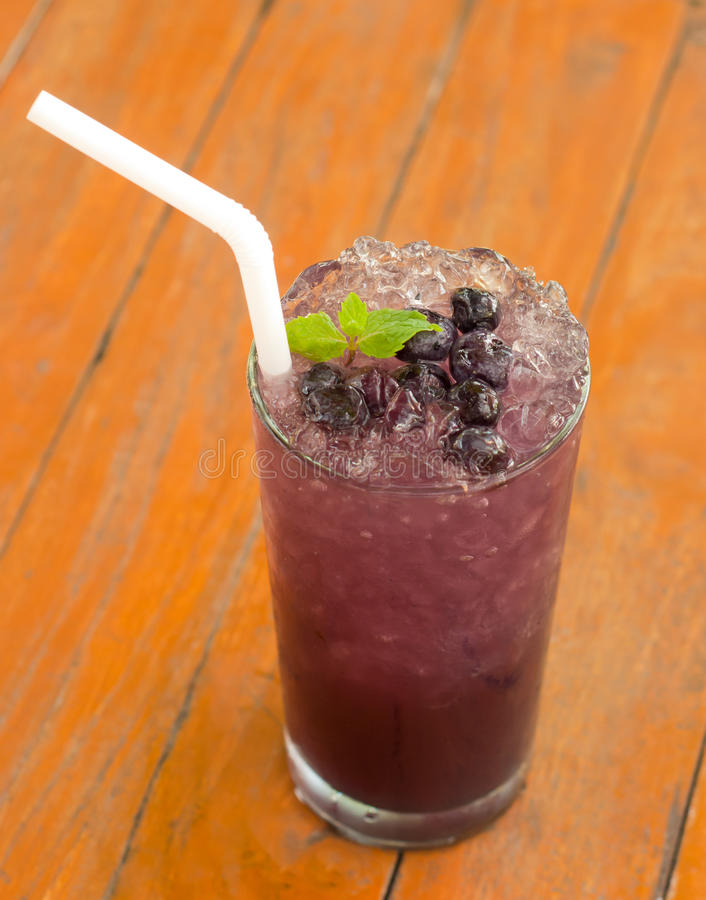 Blueberry soda stock photo