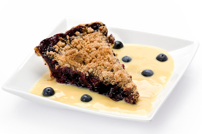 Blueberry Streusel Pie Stock Photos