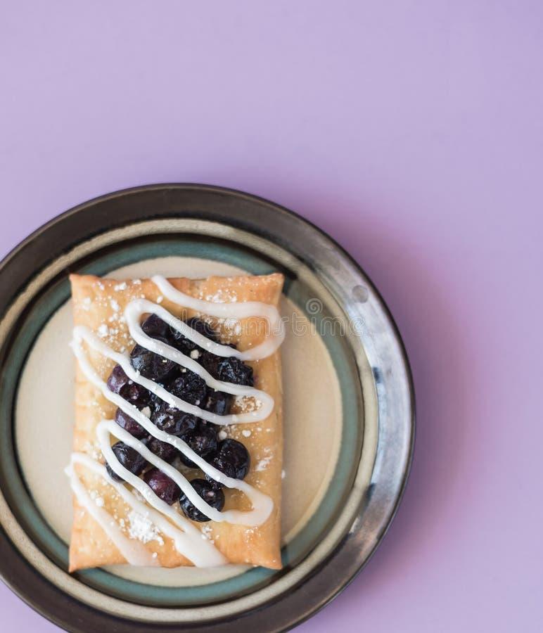 Blueberry Strudel Snack stock photography