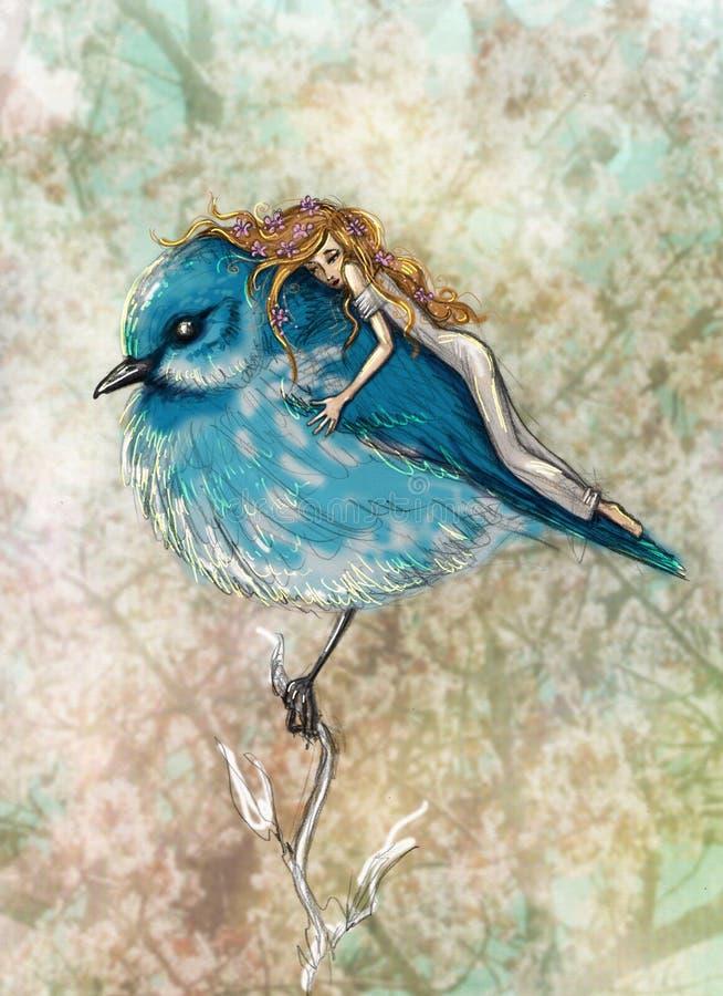 bluebird stock illustratie