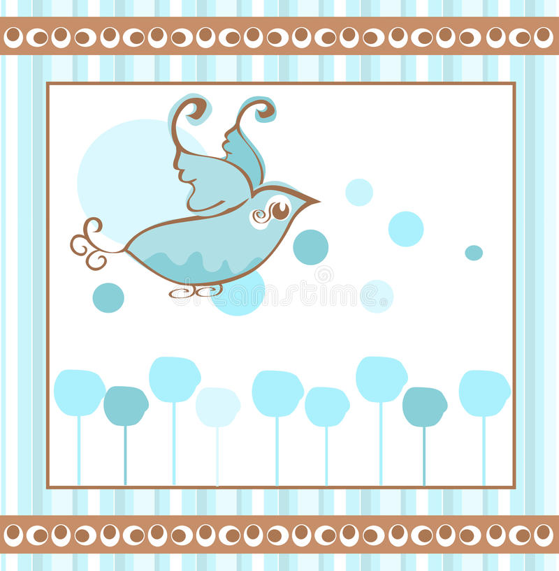 Bluebird Background Stock Images