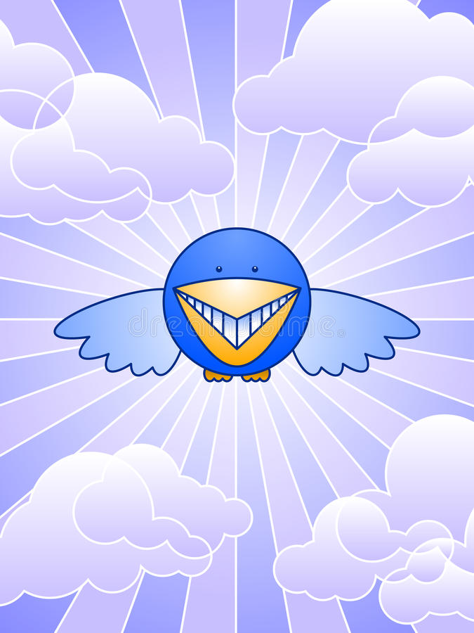 Download Bluebird of happiness stock vector. Image of friendly - 20239056