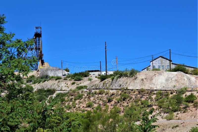 Bluebird kopalnia, Tonto las pa?stwowy, Miami okr?g, Gila okr?g administracyjny, Arizona, Stany Zjednoczone fotografia royalty free