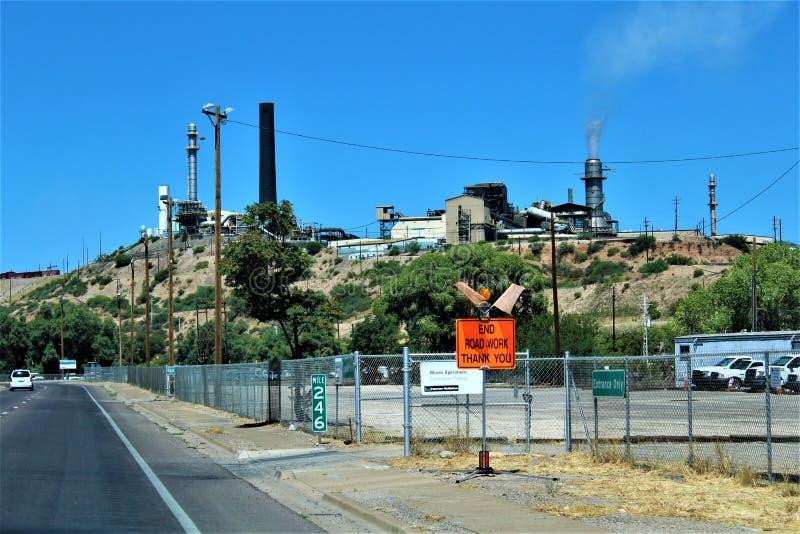 Bluebird Mine, Tonto National Forest, Globe-Miami District, Gila County, Arizona, United States. Scenic landscape view of Bluebird Mine, located in Tonto stock images