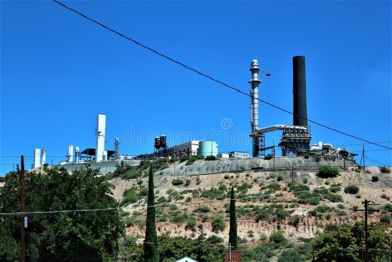 Bluebird Mine, Tonto National Forest, Globe-Miami District, Gila County, Arizona, United States. Scenic landscape view of Bluebird Mine, located in Tonto stock image