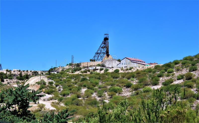 Bluebird Mine, Tonto National Forest, Globe-Miami District, Gila County, Arizona, United States. Scenic landscape view of Bluebird Mine, located in Tonto stock photography