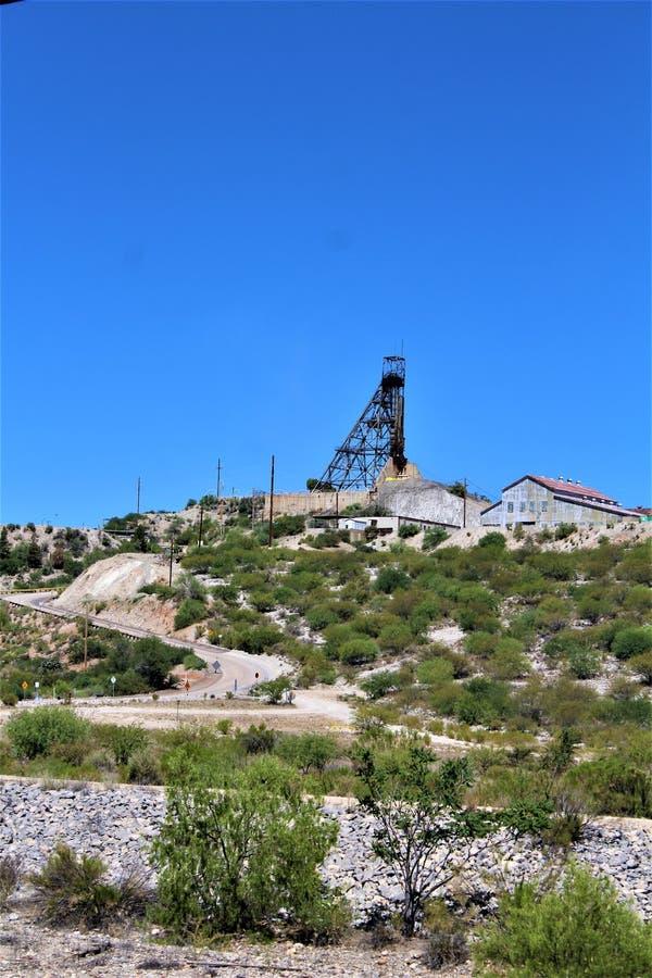 Bluebird Mine, Tonto National Forest, Globe-Miami District, Gila County, Arizona, United States. Scenic landscape view of Bluebird Mine, located in Tonto stock photo